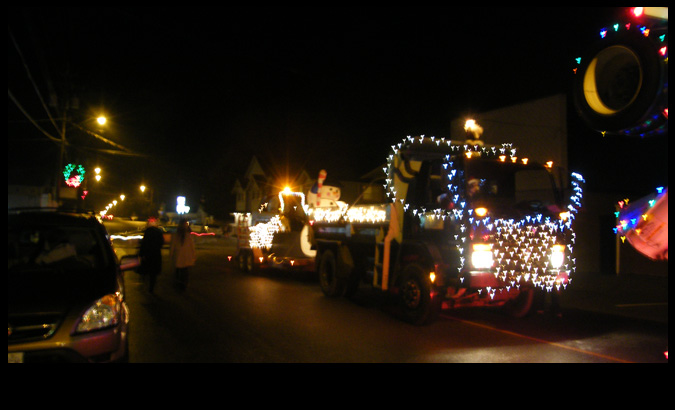parade with trucks